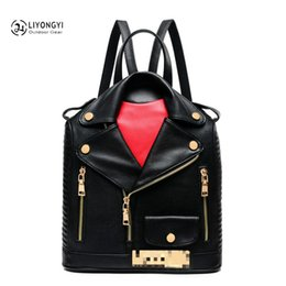 unique clothing designs Australia - Unique Clothes Design Women Leather BackpackS Female Travel Shoulder Women School Bag sac a main femme de marque luxe cuir 2018