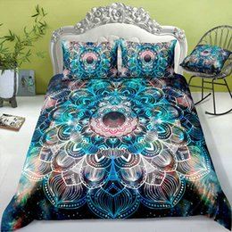 orange bedding sets double Australia - Multi-color Bohemia Bedding Set King Size Galaxy Fantasy 3D Duvet Cover Queen Home Dec Single Double Bedspread with Pillowcase