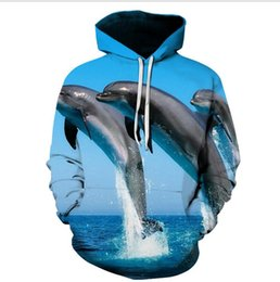 Fishing pullovers online shopping - 3D Ocean World Fish Digital Printing Cover