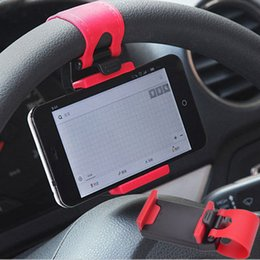Wholesale Universal Car Steering Wheel Cradle Cellphone Holder Clip Car Bike Mount Stand Flexible Phone Holder for iphon6 plus