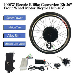 "bike wheel 26 front Australia - 1000W 26"" Front Wheel Motor Bicycle Hub Electric E Bike Conversion Kit 48V Aluminum Alloy Tool Kit Crank Speed Sensor"