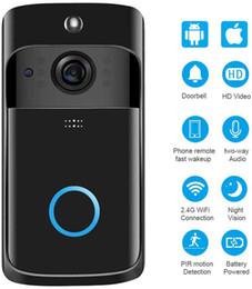 Wholesale New Wireless WiFi Doorbell Infrared Doorbell Camera IP5 Waterproof HD WiFi Security Camera iOS & Android Phone Upgrade Smart Home Doorbell
