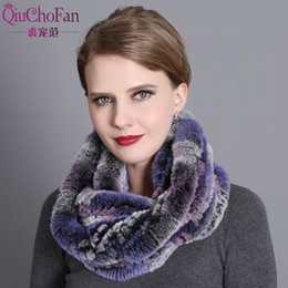 Knitted Rex Rabbit Fur Scarf Australia - Women Scarf Winter 2017 Brand Luxury Knitted Female Real Rex Rabbit Fur Scarf Collar Warm Neck Color Pompoms D19011004