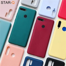 honor 6x back cover UK - candy color silicone phone case for huawei 7a 5.45 7c pro 5.7 5.99 russia matte soft tpu back cover on honor play 7x 6x 7s