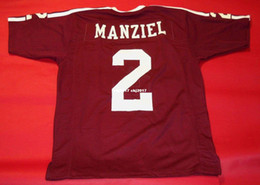 6e971cb30 Cheap retro #2 JOHNNY MANZIEL CUSTOM TEXAS A&M AGGIES JERSEY HEISMAN Wine  Red Mens Stitching College Size S-5XL Football jerseys NCAA