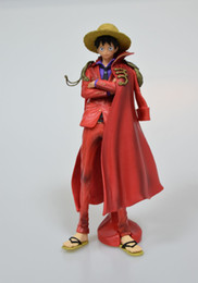China One Piece Luffy Red Straw Hat Anime Figure Action Figures CollectibleMoble Toys Birthdays Gifts Doll New Arrvial Hot Sale Free Shipping supplier birthday one piece toy suppliers