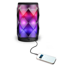 Mini woofer bluetooth online shopping - 2019 LED Lamp Speaker Portable Bluetooth Speaker Colorful Wireless Bluetooth Deep Sub woofer Stereo Mini Portable Speakers
