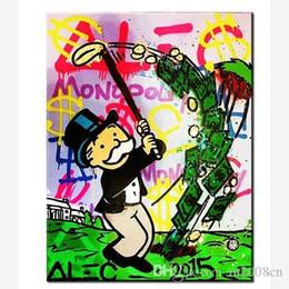 $enCountryForm.capitalKeyWord Australia - Alec Monopoly Handpainted  HD Print Street Graffiti Pop Wall Art Oil Painting on Canvas office art culture Multi Sizes  Frame Options g298