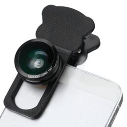 Angle Clamps Australia - Fish Eye Wide Angle Macro Telephoto 4-in-1 Universal Cat Clamp Photo Lens