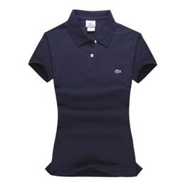 Wholesale ladies polo tops resale online - Men Women Brand Designer Polo Shirts Summer Tops Luxury Ladies Polo Shirts Fashion Shirt Male Women High Street Casual Top Tees K