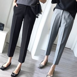 $enCountryForm.capitalKeyWord Australia - Striaght For Women With High Waist Ol Office Workwear Skinny Formal Black Suit Pants Female Trousers Plus Size 5xl 4xl Q190522