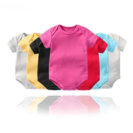 China baby romper 14 colors infant short sleeve triangle climbing clothing Kids newborn cotton onesies jumpsuits rompers toddler bodysuit suppliers