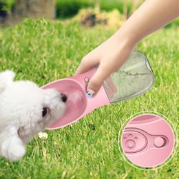 $enCountryForm.capitalKeyWord Australia - Blue 350ML Portable Pet Dog Kettle Travel Dog Bowl Cup Dog Cat Feeding Water Outdoor Puppy Cat Pet Supplies