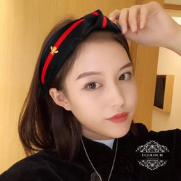 Wholesale 1PC New Hairband Headband For Women Girls Fashion Turban Striped Hair Bands Bee Pattern Printed Hair Accessories