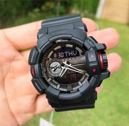 g shock style watches 2019 - Shock 400 Mens Sport Watches Waterproof Luxury Desinger G Style Dropship Sprot Watch Black Gold Rubber Watches NEW Male
