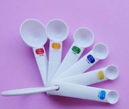 $enCountryForm.capitalKeyWord Australia - DHL 6PC set White Measuring Spoon Tea Coffee Scoop Baking Cooking Plastic Kitchen Tool for home