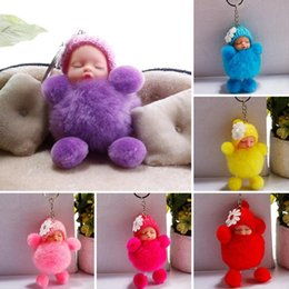 Wholesale Fashion Fashion Cute Sleep Doll Bag Accessory Keychain Cell Phone Plush Doll Pendant New Plush Doll Pendant