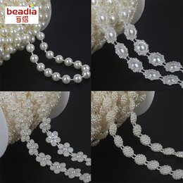 Pack Supplies Australia - 2-10m pack mix Size Flower Shape Flat back Ivory ABS Imitation pearl Beads Craft Decoration DIY Clothing Supplies Accessories