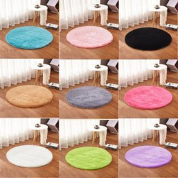 $enCountryForm.capitalKeyWord Australia - Fluffy Rugs Round Carpets Anti -Skid Shaggy Area Rug Dining Room Home Bedroom Carpet Floor Yoga Mat For Parlor Bedding Room