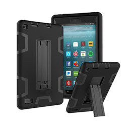 "rugged tablet china UK - Drop resistance Shockproof 3 in 1 Heavy Duty Hybrid Silicone +PC Rugged Hard Case Kids Safe Cover for KindIe fire 7"" Tablet+Stylus"