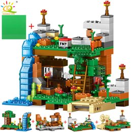 $enCountryForm.capitalKeyWord NZ - 378pcs 4 In 1 Minecrafted Building Blocks Compatible City House Figures Dragon Bricks Set Educational Toys For Children GiftMX190820