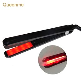 ultrasonic infrared iron Australia - QUEENME Ultrasonic Infrared Hair Care Iron Recovers The Damaged Hair LCD Display Hair Treatment Styler Cold Iron StraightenerMX190925