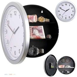PC 1 Reloj de pared secreto escondido Caja de seguridad Reloj de pared joyería contenedor caja Fuerte Digital Stash Relojes Decoración del hogar en venta