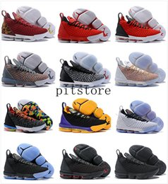 Lebron 16 Herren Basketball-Schuhe Schwarz Rot James 16 XVI Legit Günstige Trainer Sport Designer Sneakers Outlet