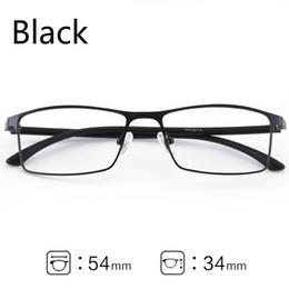 567cea51f41 Metal Glasses Frame Men Ultralight Square Myopia Prescription Eyeglasses  2018 Male Metal Full Optical Frame Screwless Eyewear