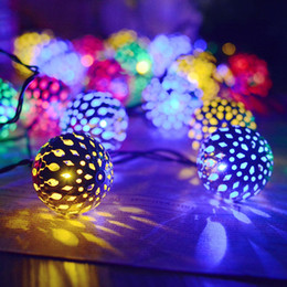 $enCountryForm.capitalKeyWord Australia - Umlight1688 Solar String Lights Moroccan Ball Multicolor 5M 20LED Globe Fairy String Lights Solar Powered Orb Lantern Christmas Lighting