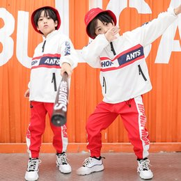 $enCountryForm.capitalKeyWord Australia - Girls Boys Hip Hop Costumes Kid Ballroom Dance Clothes Jazz Running Jacket Coat Tops Dancing Pants Children Loose Dancewear