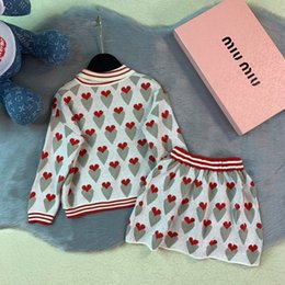 $enCountryForm.capitalKeyWord NZ - Two Piece Outfits Children Clothes Pure Cotton Luxury Designer Sweater Baby Western Style Suit Tide Summer Clothing Girls Set smart_kid