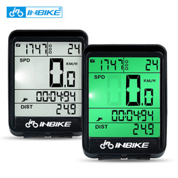 bicycle stopwatches 2019 - INBIKE Waterproof Bicycle Computer Wireless And Wired MTB Bike Cycling Odometer Stopwatch Speedometer Watch LED Digital