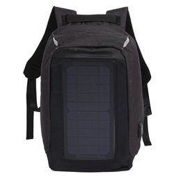 bags solar panels UK - Solar Backpack Anti-Theft Business Bag Travel Backpack Casual Rucksack with Solar Panel Charge for Smart Phone Men Women