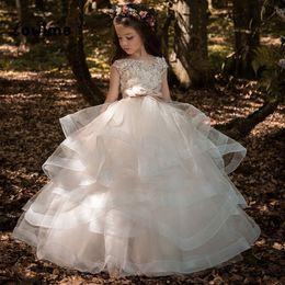 $enCountryForm.capitalKeyWord NZ - New Kids Pageant Evening Gowns 2019 Ball Gown Flower Girl Dresses For Weddings First Communion Dresses Vestidos Primera Comunion