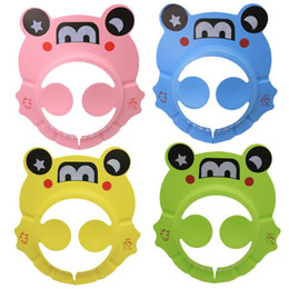 Children's cartoon bath ear shampoo cap baby baby shampoo cap EVA adjustable shampoo cap on Sale