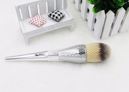 loose brush makeup NZ - TOP Quality New Ulta Silver Metal Handle Synthetic Hair It NO. 211 Loose Powder Makeup Brushes 24PCS LOT DHL