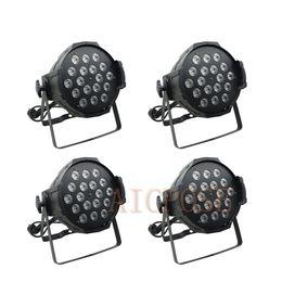 Dmx spotlights online shopping - 4pcs w Lights Power in and out LED Par x12W RGBW in1 LED Par Can Par led spotlight dj projector stage light