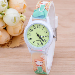 girl children models NZ - Cartoon Children Watch Fashionable Female Models Student Silica Quartz Watch Children Watch Luminous Wholesale Gifts girls hot selling