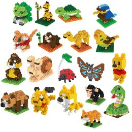 Build Block Minifigures Australia - Kids Toys Micro Size Block Diamond Building Minifigures Animal Shape Pikachu Deer 27 Styles Building Blocks Children's Puzzle Toys DIY