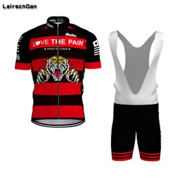 bike clothing cooling NZ - 2020 SPTGRVO LairschDan Cool Funny Men Short Sleeve Cycling Clothing Sets MTB Outfit Bike Jersey Kit Road Bike Suit Team Uniform