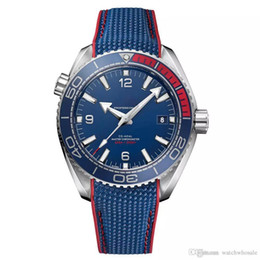 Chinese  OM Limited quantity watch men SEA MASTER blue face Series wristwatch 522.32.44.21.03.001 mens watches free shippingHot sell manufacturers
