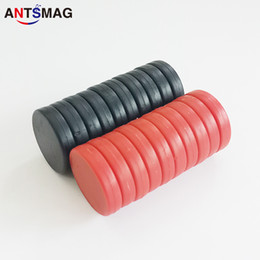 Neodymium Disc Magnets NZ - Water Proof Magnets, Unbreakable Plastic-Coated N52 Neodymium Disc Magnets, D20X5.0MM