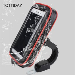 Tottiday Мотоцикл Держатель Телефона Стенд 360 Вращающийся Moto Mobile Support Для Iphone Xs X 8 Plus S9 S8 S7 Крышка Водонепроницаемый Мешок J190508