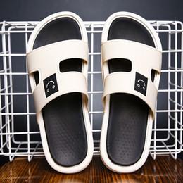 Men Heel Platform Shoes Australia - 2019 New Summer Fashion Platform Men Shoes Flat Heels Smile Comfort Mens Leisure Slippers Mans Non-Slip Massage Indoor Shoes