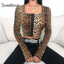 ef7853f01 Women short front long back top online shopping - Sweetown Animal Print T  Shirts For Women