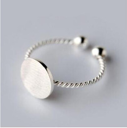 26521ec2e Simple Style 925 Sterling Silver Twist Roped Plain Round Toe Ring Vintage  Design finger tinny Adjustable Rings For Girls