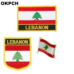 $enCountryForm.capitalKeyWord NZ - Lebanon flag patch badge 3pcs a Set Patches for Clothing DIY Decoration PT0102-3