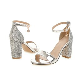 27e1e2fd880 Ankle Strap Block Heels Women Sandals Summer Shoes Women Open Toe Chunky  High Heels Party Dress Sandals