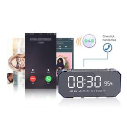 computer clock NZ - new Multifunction Alarm Clock 10W Bluetooth Wireless Speaker with LED Clock, Lightweight, Big Sound, Bass and Large Dimmable Display